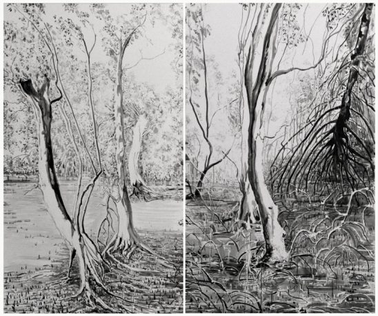 Composition 7, diptych